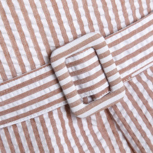 Lindy Bop 'Colette' Taupe Stripe